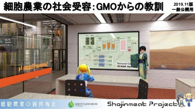 細胞農業の社会受容:GMOからの教訓 2019.11版 一般公開用