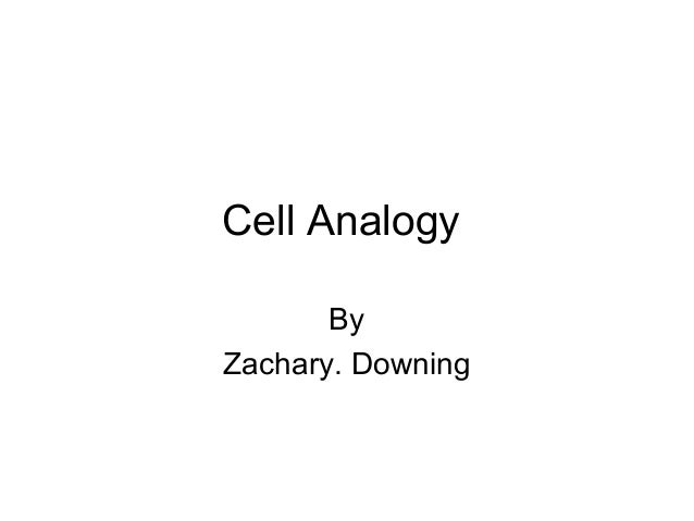 Cell Analogy       ByZachary. Downing