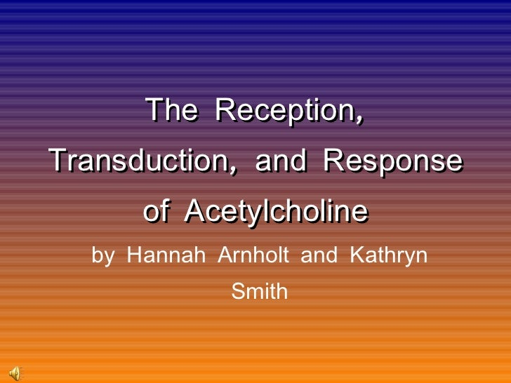 The Reception, Transduction, and Response of Acetylcholine by Hannah Arnholt and Kathryn Smith