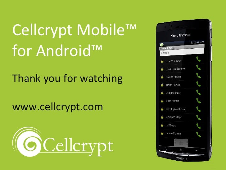 cellcrypt mobile android