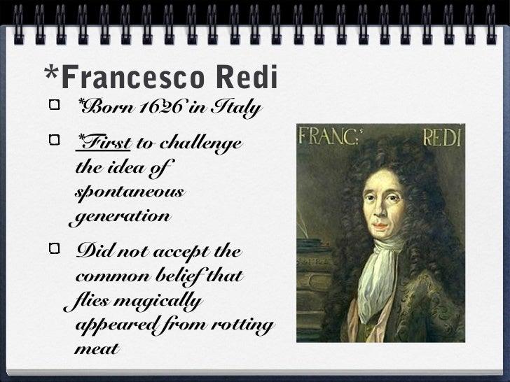 francesco redi cell theory
