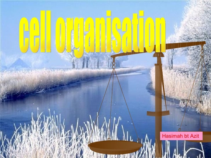 cell organisation  Hasimah bt Azit