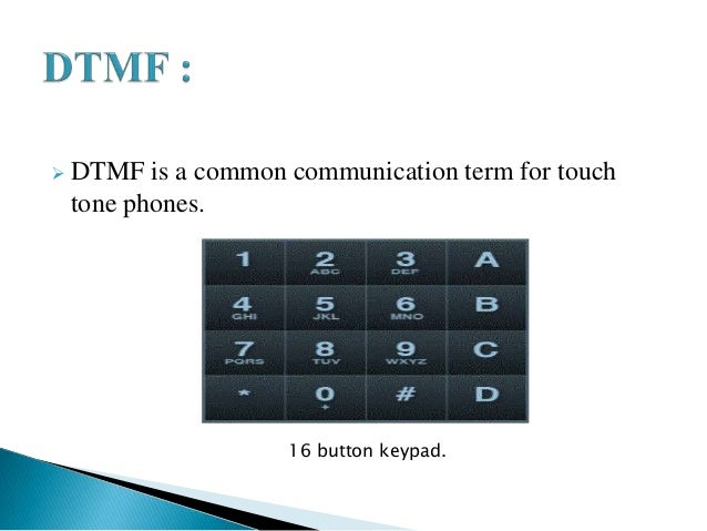 Cell phone based dtmf controlled