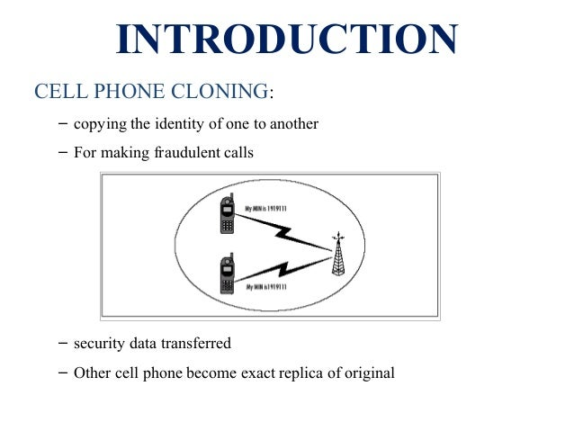Cell phone cloning Slide 3