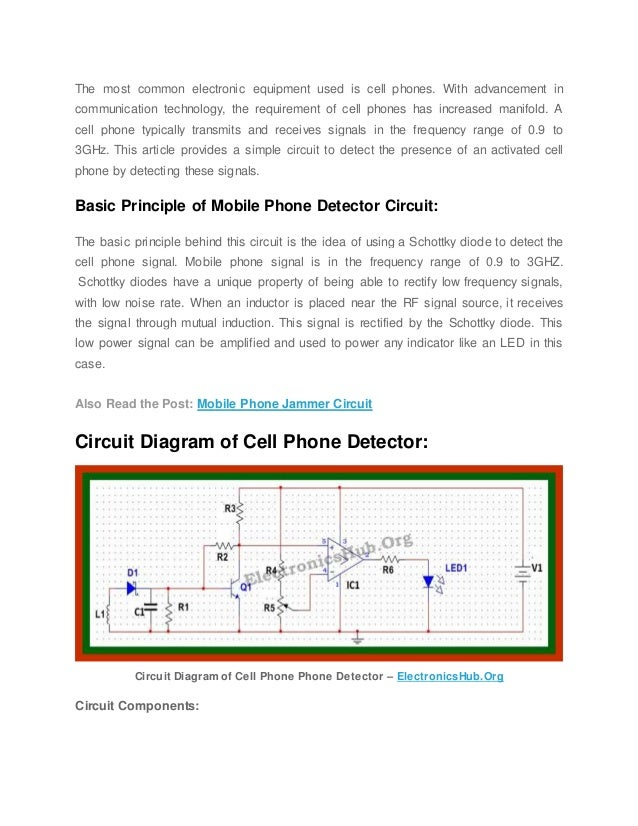 Cell Phone Detector Circuit Diagram | Cell Phone Detector