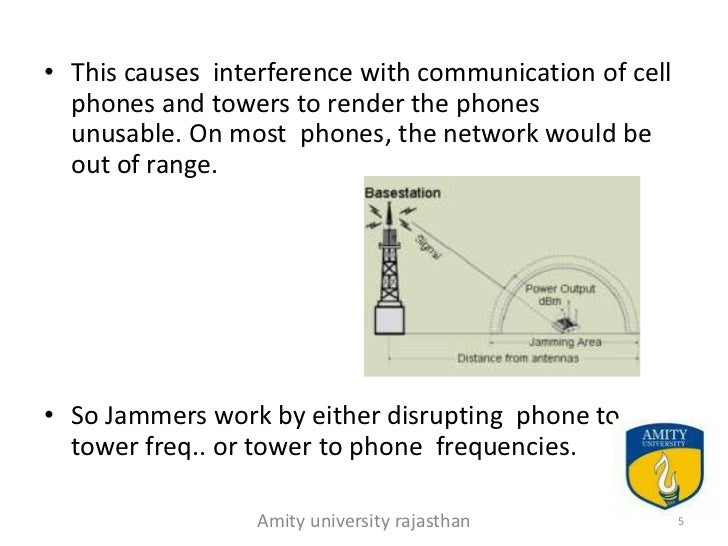 cell phone jammer ppt How Cell Phone Calls Work amity university rajasthan 4 5 this causes interference with munication of cell phones