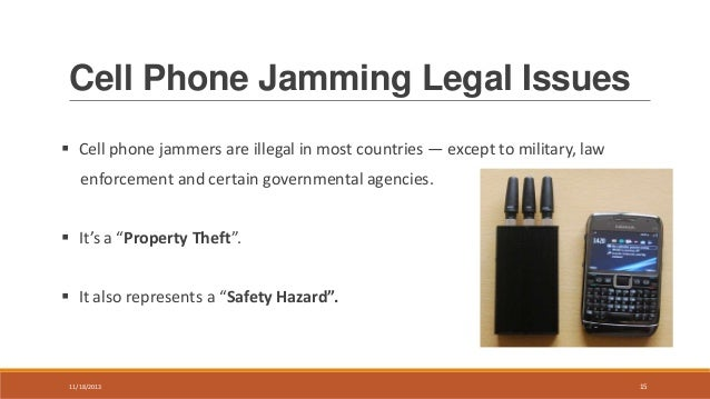Cell phone blocker laws - cell phone blocker Chaparral