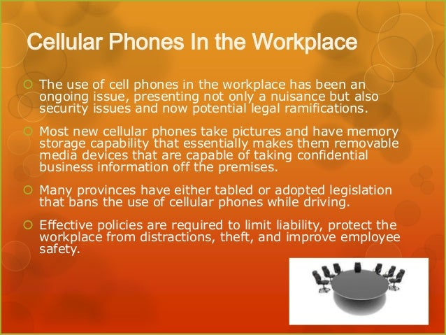 cell phones at work for managers