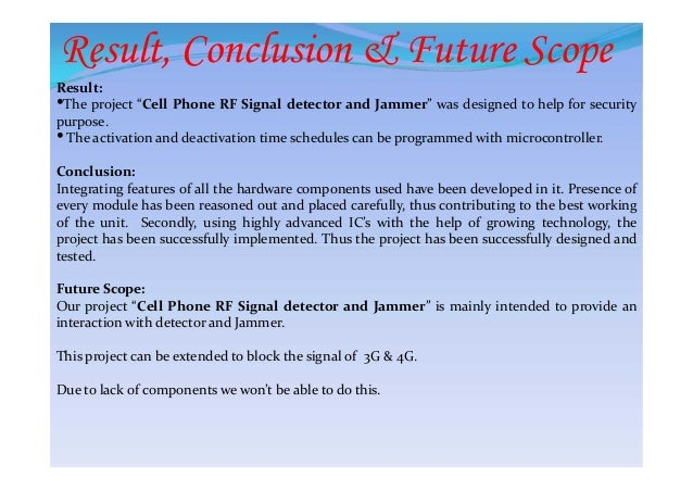 Cellphone signal detector and jammer ppt