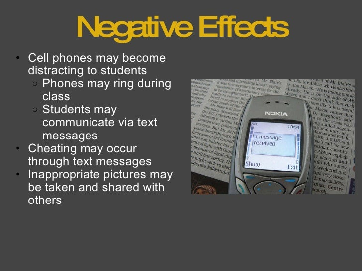 negative effects of cellphones on society