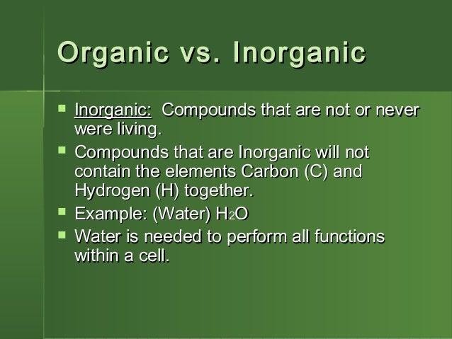 Organic Vs. Inorganic Foods
