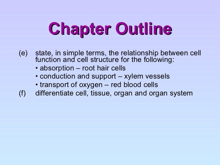 Cell structure and organisation 4 chapter outline ccuart Choice Image