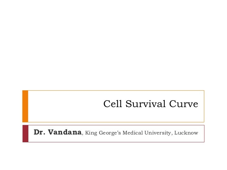 Cell Survival CurveDr. Vandana, King George's Medical University, Lucknow