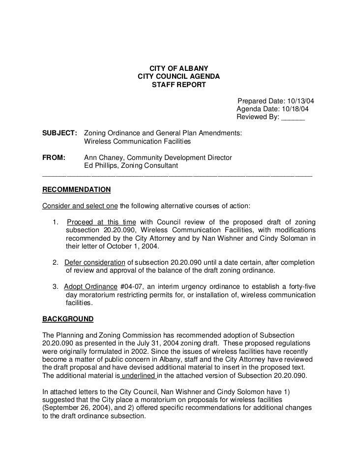 CITY OF ALBANY                               CITY COUNCIL AGENDA                                   STAFF REPORT           ...