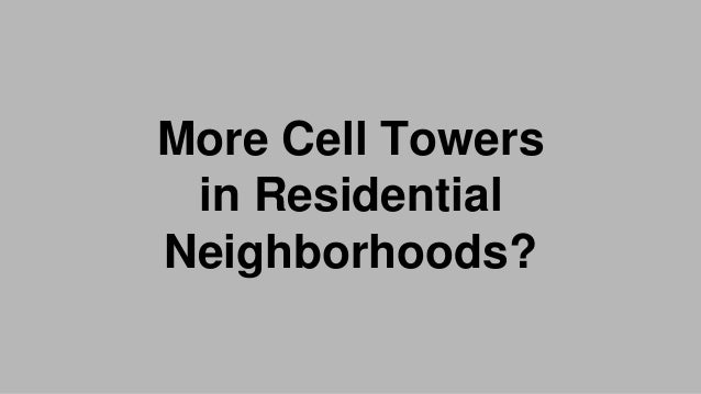 Cell Tower in the Knolls: The Industrialization of