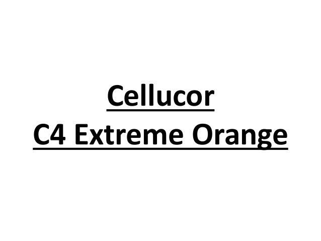 Cellucor C4 Extreme Orange