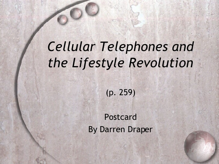 Cellular Telephones and the Lifestyle Revolution (p. 259) Postcard By Darren Draper