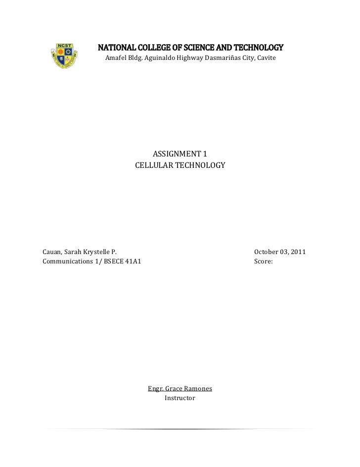 NATIONAL COLLEGE OF SCIENCE AND TECHNOLOGY                 Amafel Bldg. Aguinaldo Highway Dasmariñas City, Cavite         ...