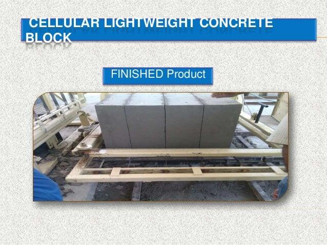 Cellular Lightweight Concrete Blocks : Cellular light weight concrete block clc technology