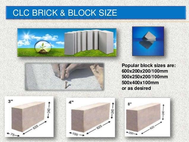 Cellular Light Weight Concrete Block Clc Technology