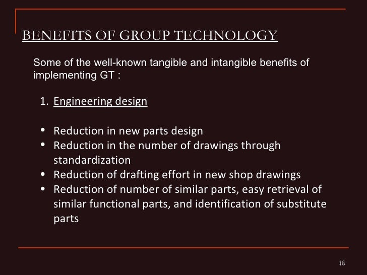 Category Technologies: Cellular Manufacturing Group Technology