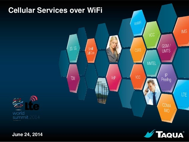 Proprietary & Confidential 1 Cellular Services over WiFi June 24, 2014