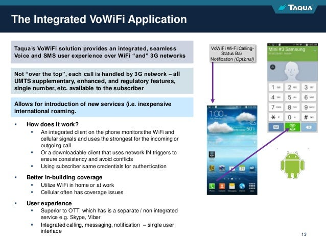 Proprietary & Confidential 13  How does it work?  An integrated client on the phone monitors the WiFi and cellular signa...