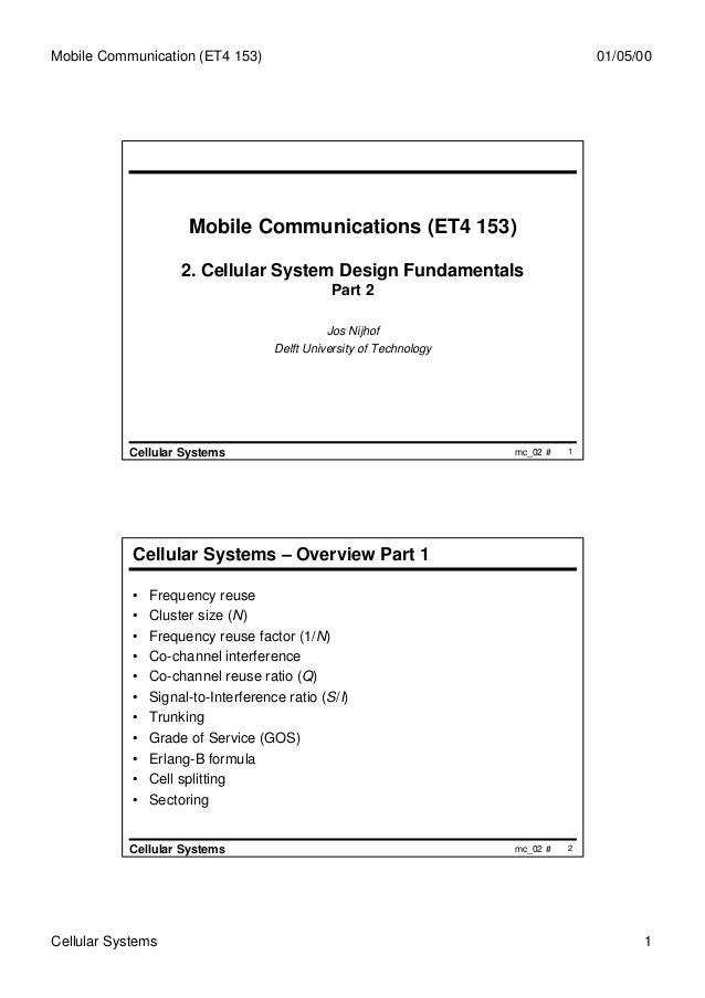 Mobile Communication (ET4 153)                                                      01/05/00                      Mobile C...