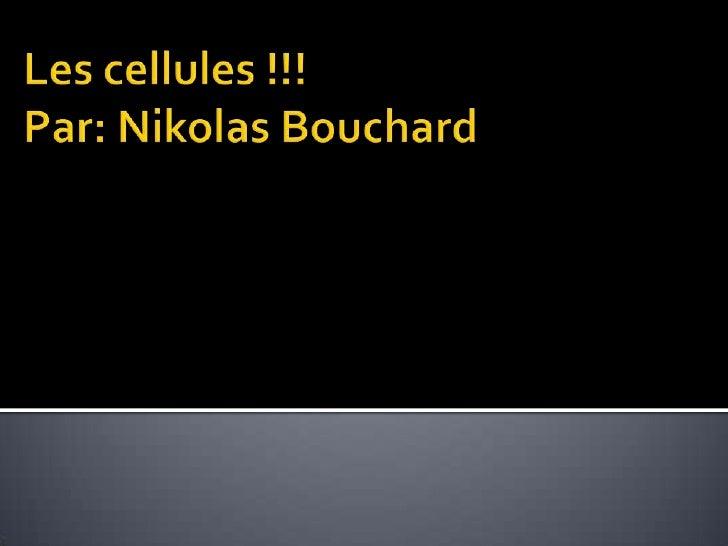 Les cellules !!!Par: Nikolas Bouchard<br />
