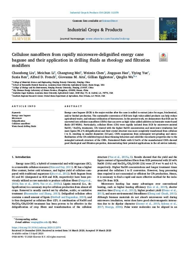 cellulose nanofibre from energy cane 1 638