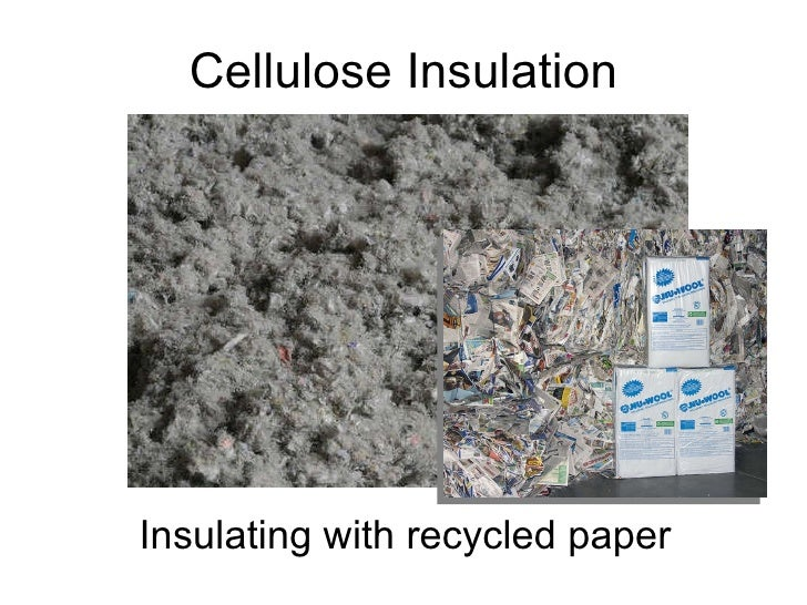 Cellulose Insulation Insulating with recycled paper