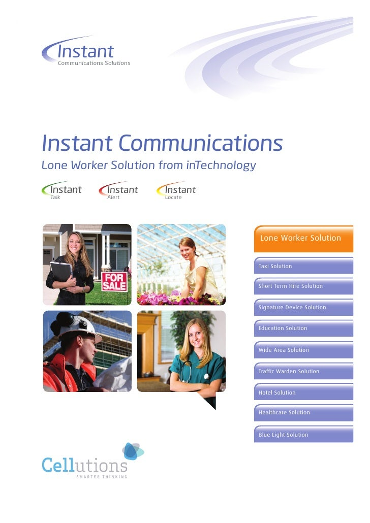 Instant     Communications Solutions     Instant Communications Lone Worker Solution from inTechnology   Instant          ...