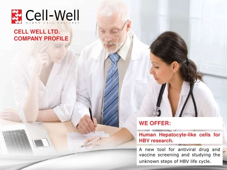 CELL WELL LTD.– HELPING TO MOVE YOUR RESEARCH FORWARD!<br />CELL WELL LTD. <br />COMPANY PROFILE<br />WE OFFER:<br />Human...