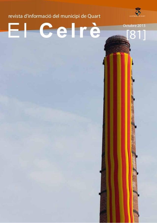 revista d'informació del municipi de Quart  AJUNTAMENT DE QUART  El Celrè Octubre 2013  [81]