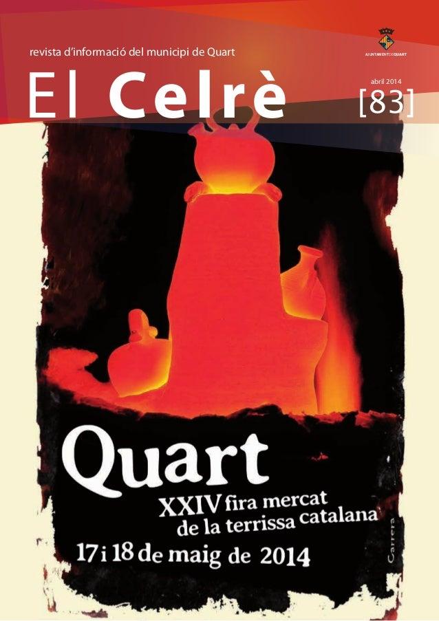 revista d'informació del municipi de Quart  AJUNTAMENTDEQUART  El Celrè abril 2014  [83]
