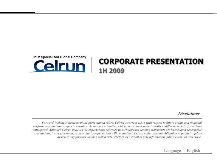 IPTV Specialized Global Company                                                   CORPORATE PRESENTATION                  ...