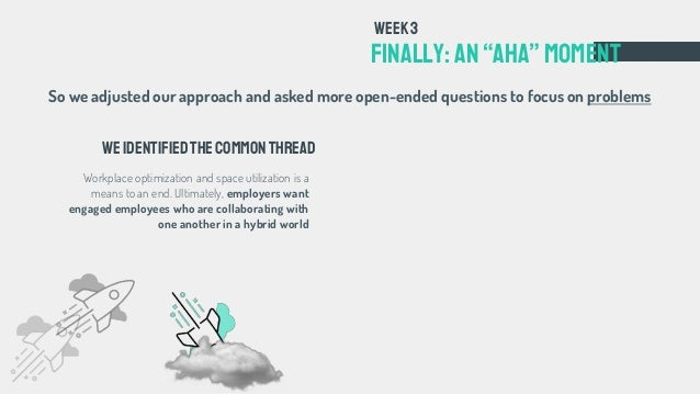 """FINALLY: an""""aha""""Moment Week3 Weidentifiedthecommonthread Workplace optimization and space utilization is a means to an end..."""