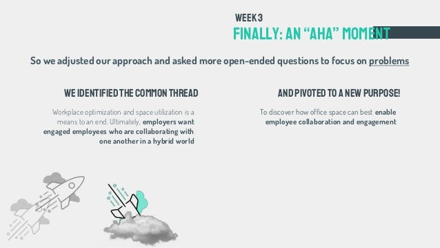 """To discover how office space can best enable employee collaboration and engagement FINALLY: an""""aha""""Moment Week3 Weidentifi..."""