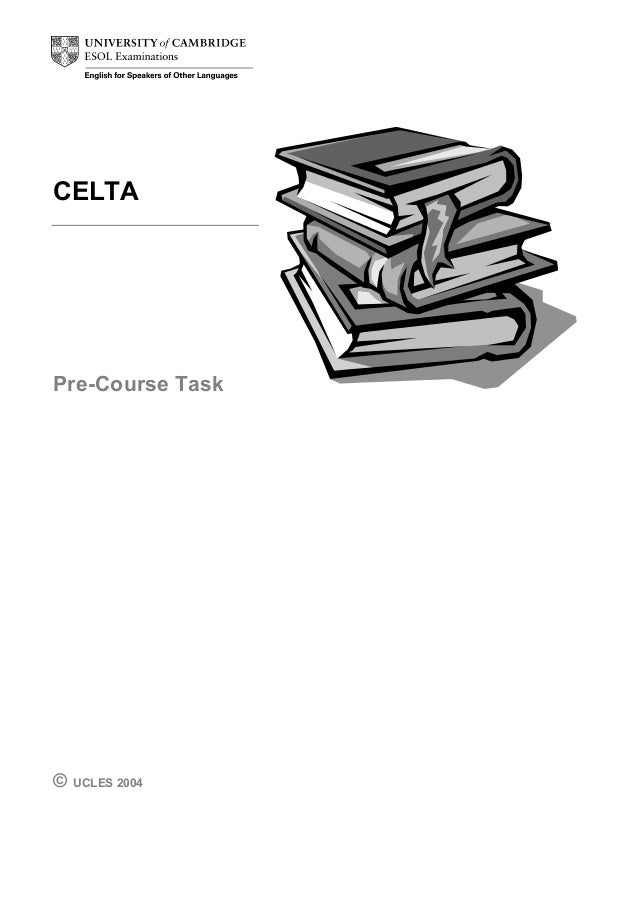 Celta task answers