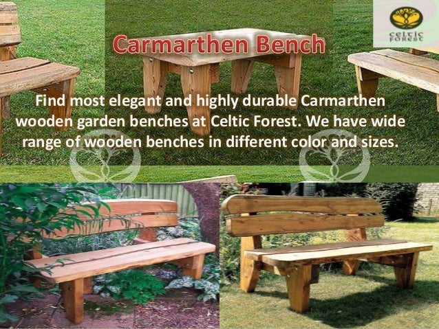 4. Handmade Wood Garden Furniture