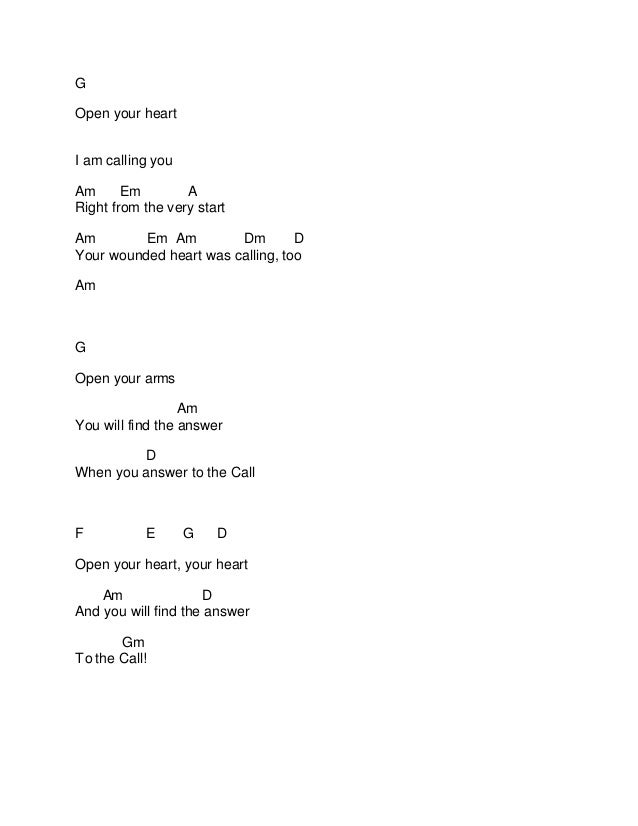 Celtic Woman The Call Chords