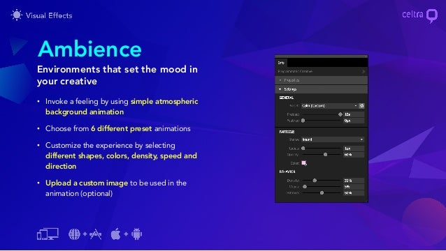 Celtra builder features - Visual Effects
