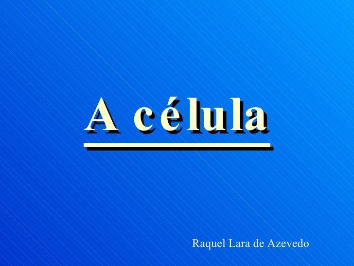 A célula Raquel Lara de Azevedo