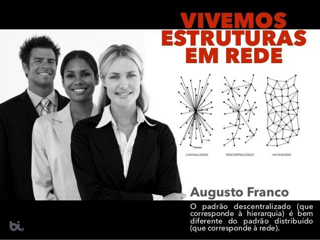 Augusto Franco O padrão descentralizado (que corresponde à hierarquia) é bem diferente do padrão distribuído (que correspo...