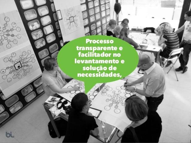Processo transparente e facilitador no levantamento e solução de necessidades,