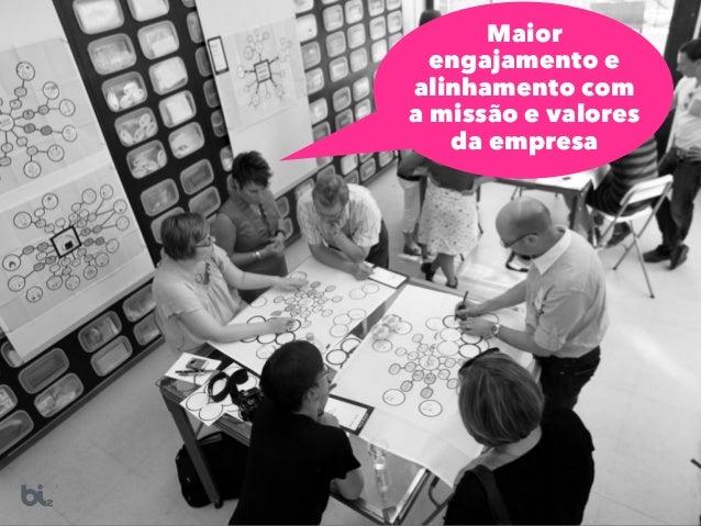 Maior engajamento e alinhamento com a missão e valores da empresa