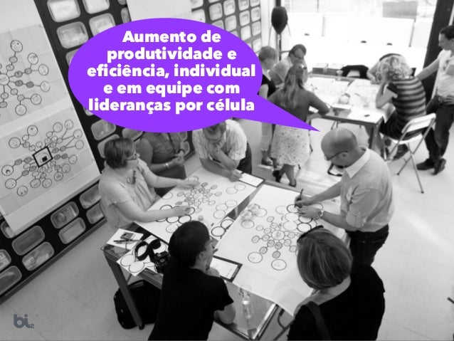 Aumento de produtividade e eficiência, individual e em equipe com lideranças por célula