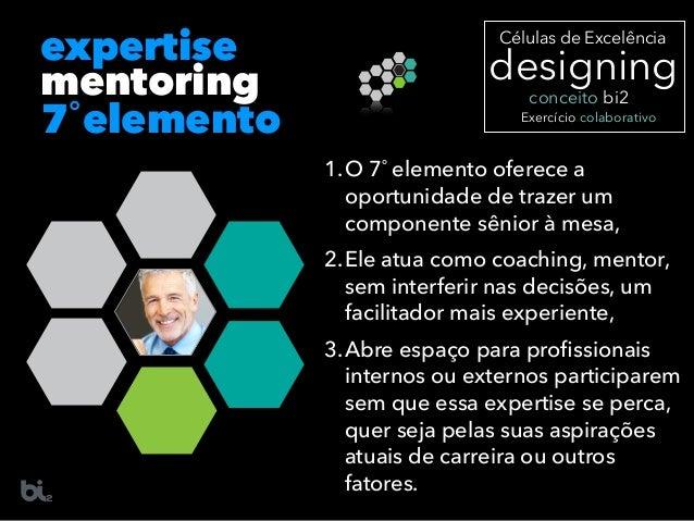 mentoring 7˚elemento expertise 1.O 7˚ elemento oferece a oportunidade de trazer um componente sênior à mesa, 2.Ele atua co...