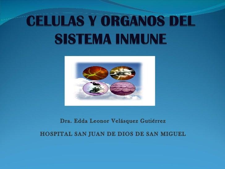 Dra. Edda Leonor Velásquez Gutiérrez HOSPITAL SAN JUAN DE DIOS DE SAN MIGUEL