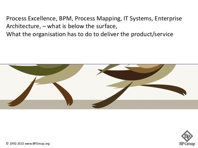 Process Excellence, BPM, Process Mapping, IT Systems, Enterprise  Architecture, – what is below the surface,  What the org...